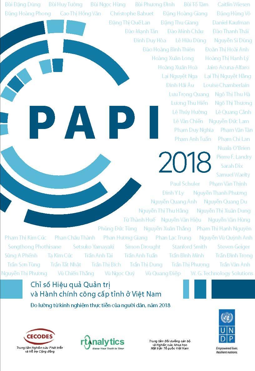 Báo cáo và dữ liệu PAPI 2018